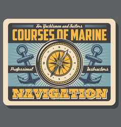 Boatmasters school marine courses navigation vector