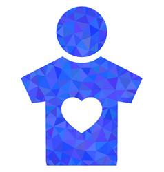 Boyfriend triangle lowpoly flat icon vector