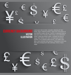 Business background with various money symbol vector image