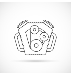 Car engine outline icon vector image