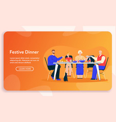 character family dinner vector image