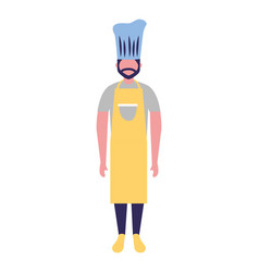 chief cooking male character professional vector image