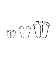 Children female and male feet vector
