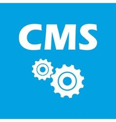 Cms white icon vector
