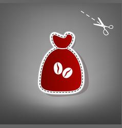coffee bag icon coffee bag coffee bag vector image vector image