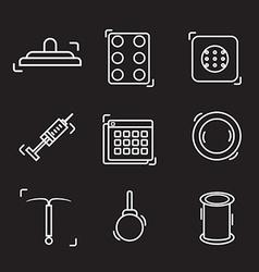 Contraception methods line icon vector