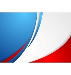 Corporate wavy abstract background French colors vector