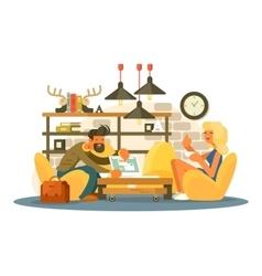 Coworking office work vector image