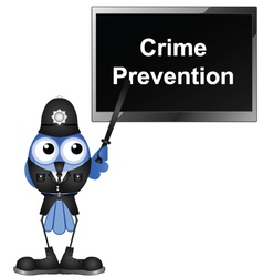 CRIME PREVENTION vector image