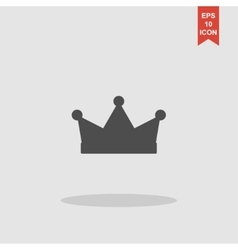 Crown icon Flat design style vector image