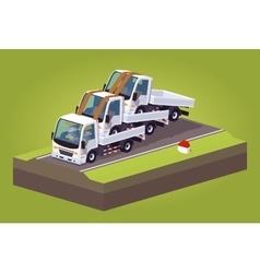 Cube World Pile of white trucks vector image