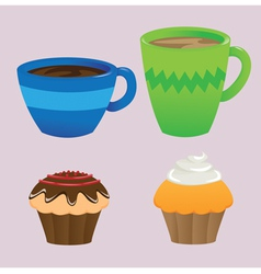 Cups and Cupcakes vector