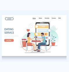 dating service website landing page design vector image