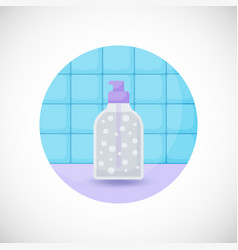 Dispenser bottle flat icon vector