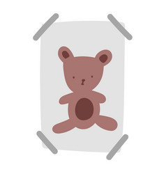 Drawing teddy bear on paper with tape adhesive vector