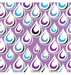 droplet seamless ornament pattern abstract rain vector image
