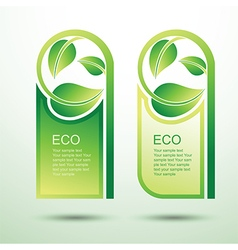 Eco template 3 vector