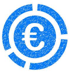 Euro financial diagram grunge icon vector