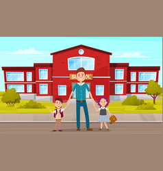 family lifestyle father take their children vector image