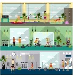 Fitness center interior vector image