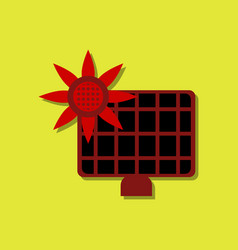 Flat icon design collection solar energy panel vector