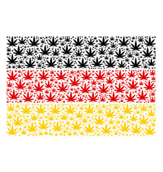 german flag mosaic of cannabis items vector image