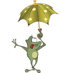 Green frog Cartoon vector