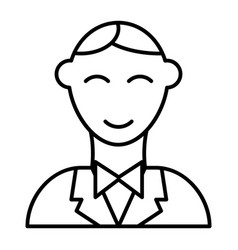 groom thin line icon man vector image