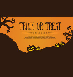 Halloween style greeting card vector