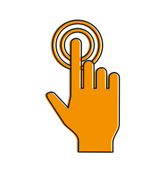 hand cursor clicking icon image vector image