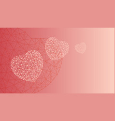 happy valentines day greeting card or banner witn vector image