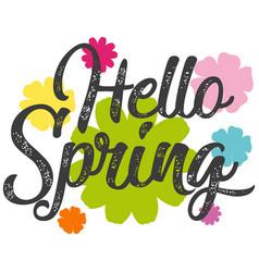 hello spring text banner vector image