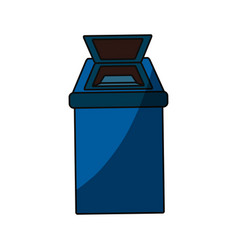 Isolated ecologic trash can vector