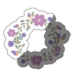 Isolated flower wreath design vector