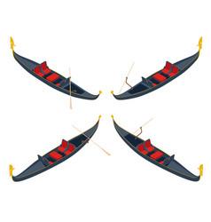 Isometric empty traditional gondola isolated on vector