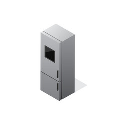isometric gradient fridge icon vector image