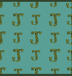 J from alfabet repeat pattern print background vector