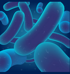 Lactobacillus bacteria colony realistic vector