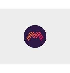 Letter M logo icon design Creative line vector