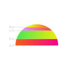 linear distribution chart icon vector image
