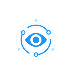 Machine vision flat icon vector