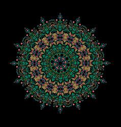 Mandala ornament background round vintage vector