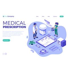 Medical diagnostics isometric vector