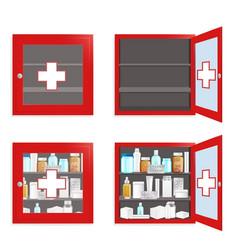 medical wall box set flat isolated vector image