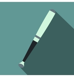 Metallic baseball bat flat icon vector image