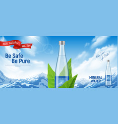 Mineral water poster vector