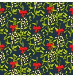 Mistletoe branches seamless pattern vector image