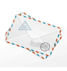Package of old letters vector image vector image