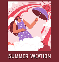 poster summer vacation concept vector image