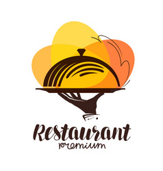 restaurant logo icon or symbol for design menu vector image